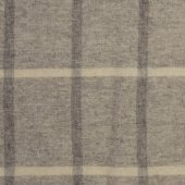 British Native Breed 100% Wool Throw Light Grey Check
