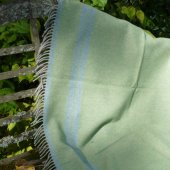 Cambrian Mill Pure New Wool Throw in Green