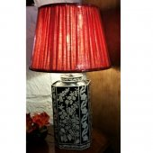 Hand Painted Tole Lamp